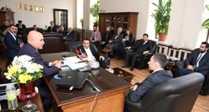 Ak Parti Yakutiye İlçe, Başkan Korkut'u ziyaret etti