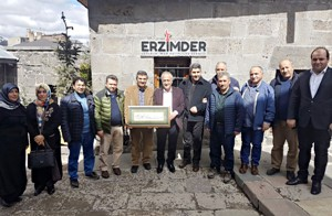 Rektör Çomaklı ERZİMDER'i Ziyaret Etti