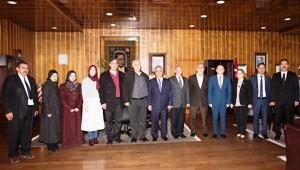 Prof. Bashar Saad'den Rektör Çomaklı'ya iade-i ziyaret