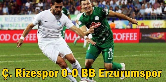 Ç. Rizespor 0-0 BB Erzurumspor