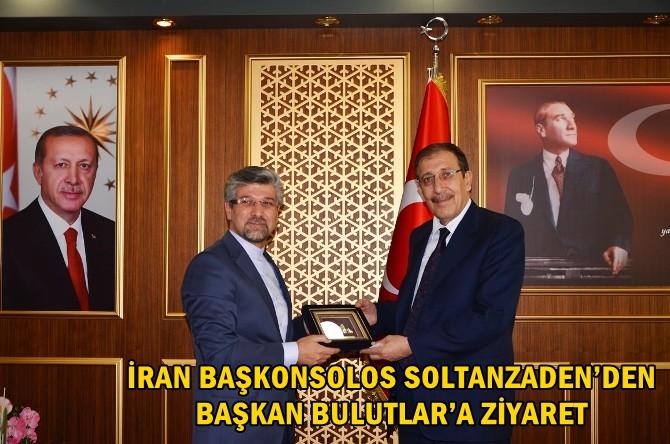 İRAN BAŞKONSOLOS SOLTANZADEN'DEN BAŞKAN BULUTLAR'A ZİYARET