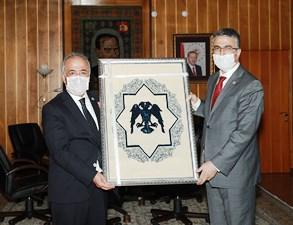 Milletvekili Aydın'dan Rektör Çomaklı'ya ziyaret