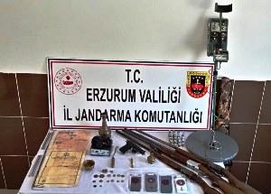 Erzurum'da kaçak tarihi eser operasyonu