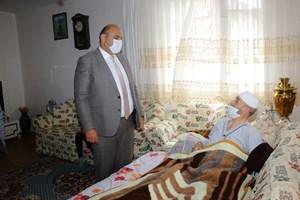 Başkan Orhan'dan Dadaş Necati'ye geçmiş olsun ziyareti