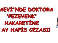 "Cezaevi'nde doktora ""pezevenk"" hakaretine 10 ay hapis cezası"