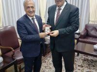 Ak Parti İl Başkanı Mehmet Emin Öz, Rektör Çomaklı'yı Ziyaret Etti