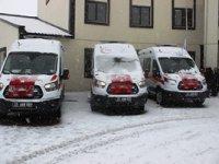 Erzurum 112'ye 6 yeni ambulans